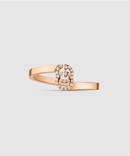GG ring in rose gold with diamonds